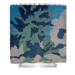 Hidden Valley Abstraction Shower Curtain by Richard Willson