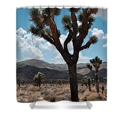 Hidden Valley Joshua Tree Portrait Shower Curtain