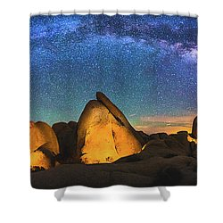 Hidden Valley Milky Way Shower Curtain by Robert Loe