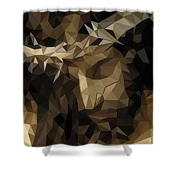 Shower Curtain featuring the digital art Hidden With Christ by Karen Showell