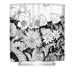 Hide And Seek Shower Curtain by Lou Belcher