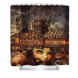Hide And Seek Shower Curtain by Mo T