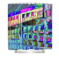Shower Curtain featuring the digital art Hide And Seek by Wendy J St Christopher