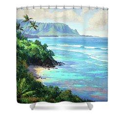 Hideaways Beach Shower Curtain by Jenifer Prince