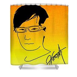 Hideo Kojima Shower Curtain by Kyle West