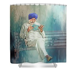 Shower Curtain featuring the photograph Hiding In Plain Sight by Wallaroo Images