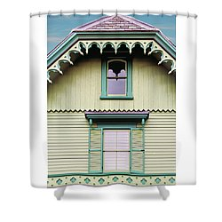 Shower Curtain featuring the photograph Historic Red Bank Train Station by Gary Slawsky
