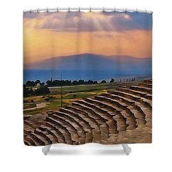 Hierapolis Theater At Sunset Shower Curtain