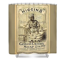 Higgins German Laundry Soap Shower Curtain