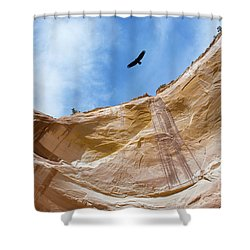 High Above Echo Amphitheater Shower Curtain