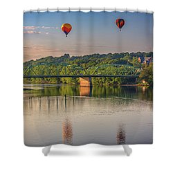 Shower Curtain featuring the photograph High Above The Androscoggin by Rick Berk