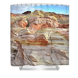 High Above Valley Of Fire Shower Curtain