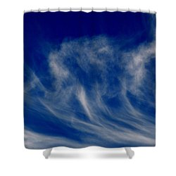 Shower Curtain featuring the photograph High Altitude Updrafts 2  by Lyle Crump
