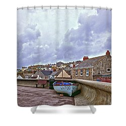Shower Curtain featuring the photograph High And Dry by Anne Kotan
