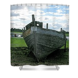 Low Tide Shower Curtain by Maria Joy