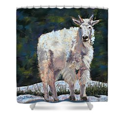High Country Friend Shower Curtain by Mary Benke