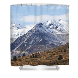 High Country In Fall Shower Curtain by Michele Cornelius