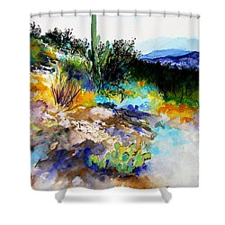High Desert Scene Shower Curtain by M Diane Bonaparte
