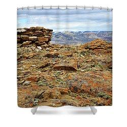High Desert Cairn Shower Curtain