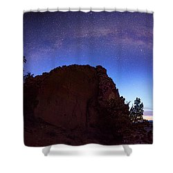 Shower Curtain featuring the photograph High Desert Dawn by Leland D Howard