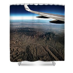 Shower Curtain featuring the photograph High Desert From High Above by T Brian Jones