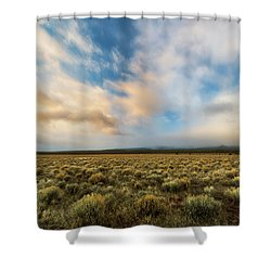 Shower Curtain featuring the photograph High Desert Morning by Ryan Manuel