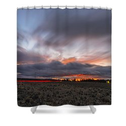 High Desert Twilights Shower Curtain by Ryan Manuel