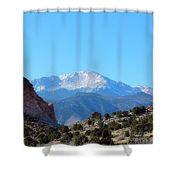 High Desert Winter Shower Curtain