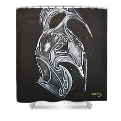 High Elven Warrior Helmet Shower Curtain