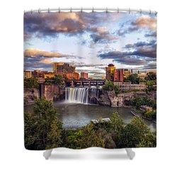 High Falls Rochester Shower Curtain