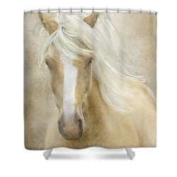 Spun Sugar Shower Curtain by Colleen Taylor