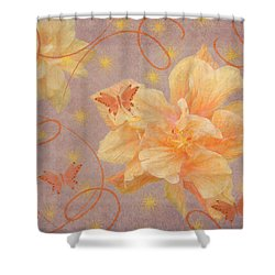 High Flying Hibiscus Shower Curtain