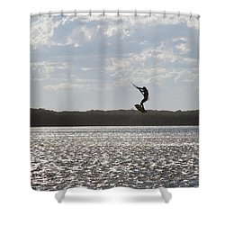 Shower Curtain featuring the photograph High Jump  by Miroslava Jurcik