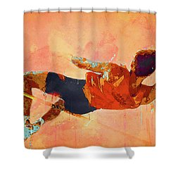 High Jumper Shower Curtain