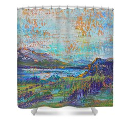High Lake Shower Curtain