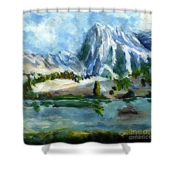 High Lake First Snow Shower Curtain