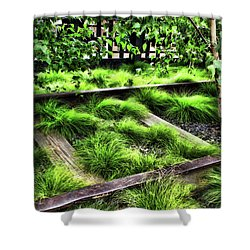 High Line Nyc Railroad Tracks Shower Curtain