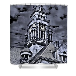 High Noon Black And White Shower Curtain by Tamyra Ayles
