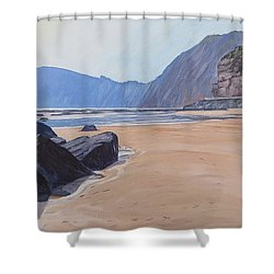 High Peak Cliff Sidmouth Shower Curtain