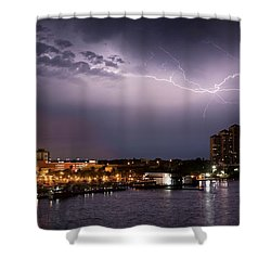 High Point Place Nights Shower Curtain