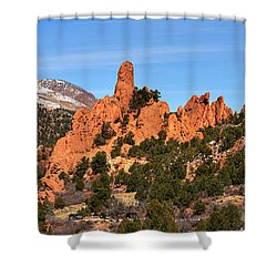 Shower Curtain featuring the photograph High Point View by Adam Jewell