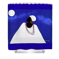 High Priestess I Shower Curtain
