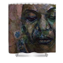 Shower Curtain featuring the painting High Priestess Of Soul  by Paul Lovering