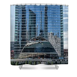 High Rise Reflections Shower Curtain by Alan Toepfer