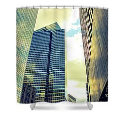 High Rise Reflections Nyc Shower Curtain