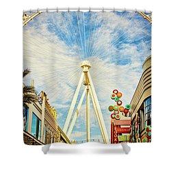 High Roller Wheel, Las Vegas Shower Curtain