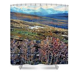 High Sierra Shower Curtain by Donald Maier