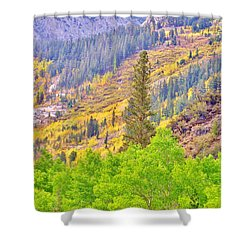 High Sierra Fall Colors Shower Curtain