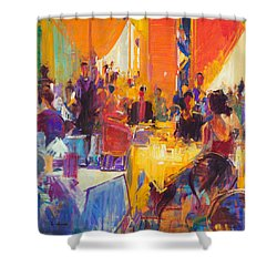 High Society Shower Curtain by Peter Graham