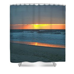 High Sunrise Shower Curtain by  Newwwman